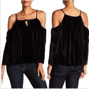 Laundry Velvet Cold Shoulder Top
